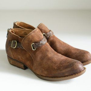 Born Sylvia Leather Short Leather Booties